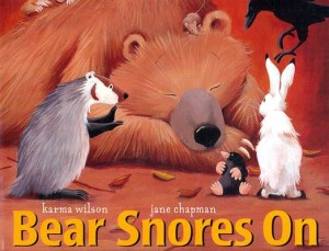 bear snores on book cover